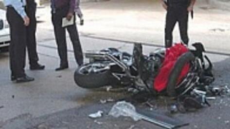 Под Воронежем перевернулся 17-летний мотоциклист