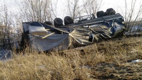 Водитель «копейки» погиб под Воронежем при столкновении с «МАЗом»