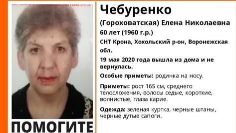 В Хохольском районе пропала 60-летняя дачница с родинкой на носу