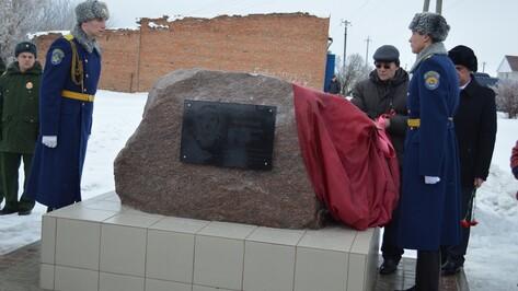 В Новоусманском районе открыли памятник воину-интернационалисту
