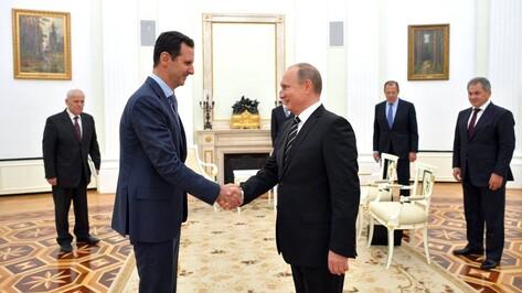 Башар Асад поблагодарил Владимира Путина за спасение Сирии