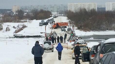 В воронежском микрорайоне Шилово развели мост через Дон