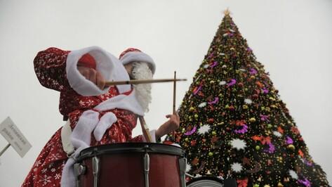 Воронежцы увидят шоу барабанщиков на открытии главной новогодней елки