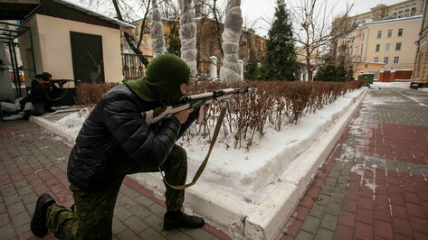 Военные отразили «атаку террористов» в центре Воронежа