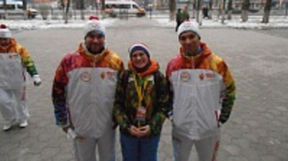 Репьевская студентка руководила группой волонтеров во время эстафеты Олимпийского огня в Воронеже