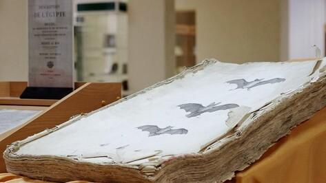 Воронежский музей показал 200-летнюю книгу «Описание Египта»