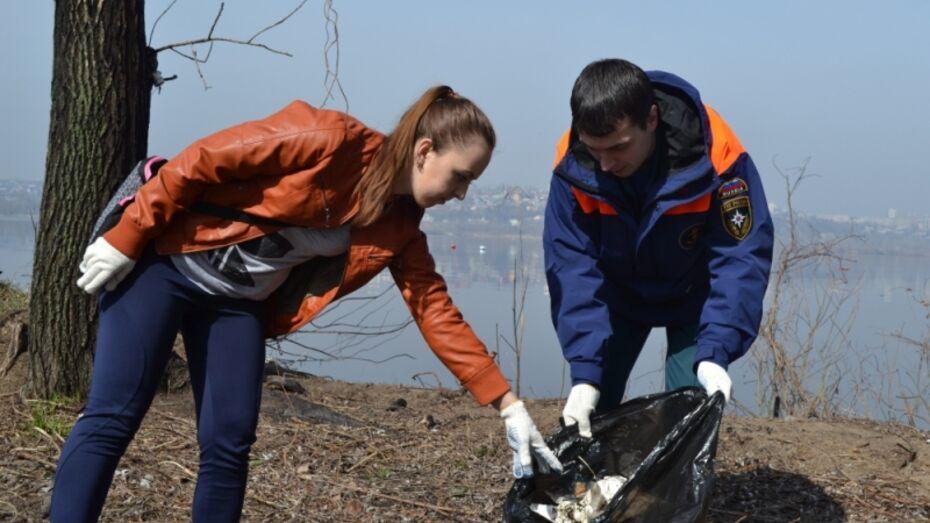 Воронежские спасатели очистили от мусора берег водохранилища