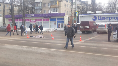 В Воронеже мужчину у перехода сбил насмерть большегруз