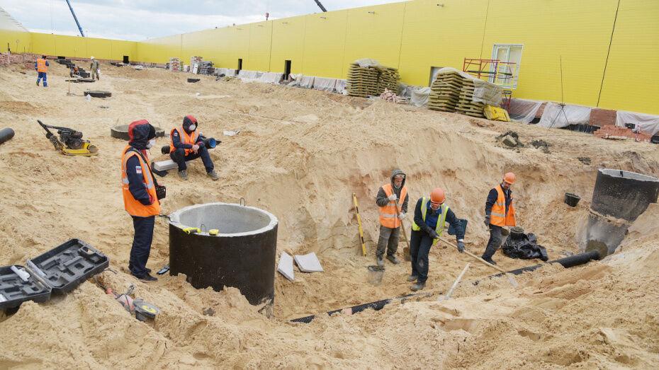 На строительство инфекционной больницы в Воронеже направят еще 500 рабочих