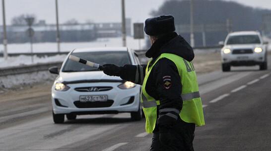 Водителя с 350 просроченными штрафами остановила полиция под Воронежем