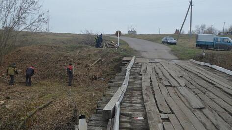 В подгоренском хуторе Суд-Николаевка начали капремонт моста через реку Попов ручей