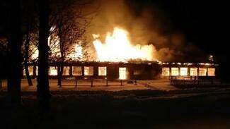 Школа сгорела в Воронежской области