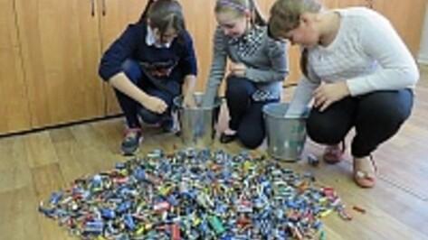 Юные семилукцы сдали на переработку 8,5 тыс. батареек