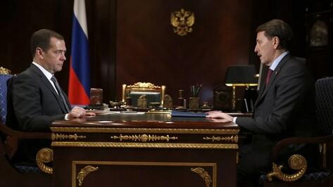 Дмитрий Медведев назвал приоритетным развитие водоснабжения в Воронежской области