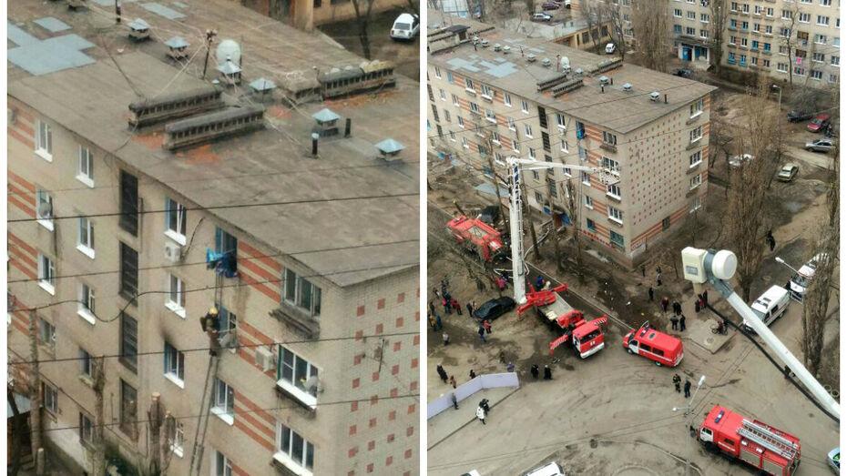 Жительница Воронежа пострадала при пожаре в пятиэтажке