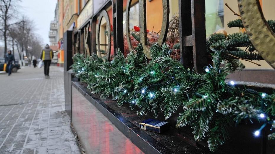 Воронеж занял 3 место в рейтинге Новогодних улиц России