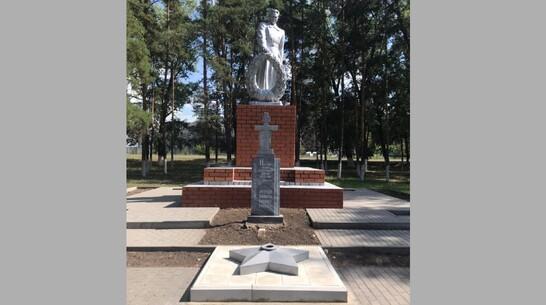 В таловском селе Верхняя Тишанка общественники установили Вечный огонь у мемориала Победы