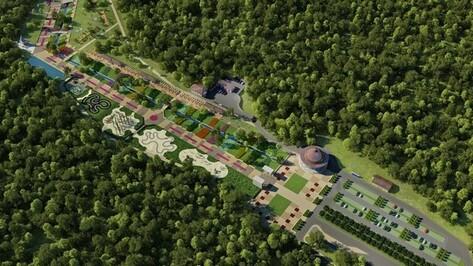 В воронежском парке «Динамо» после реконструкции появятся фонтаны и лыжероллерная трасса