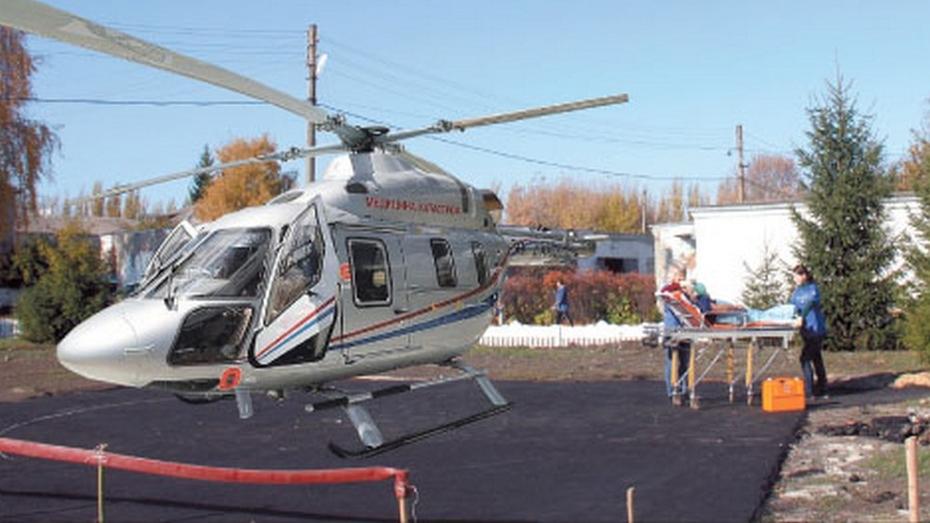 В Каменской райбольнице сделали площадку для посадки вертолета