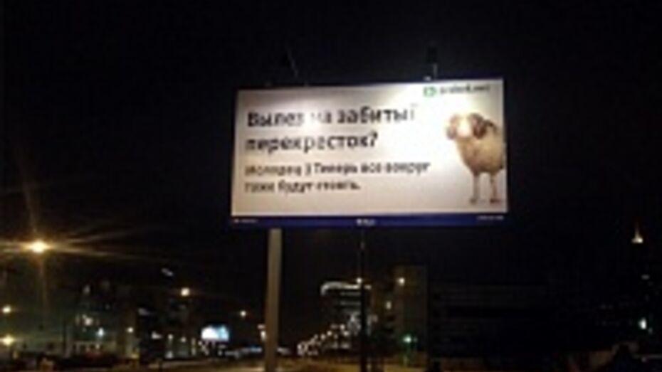 В Воронеже повесили 52 баннера против «баранов» на дорогах