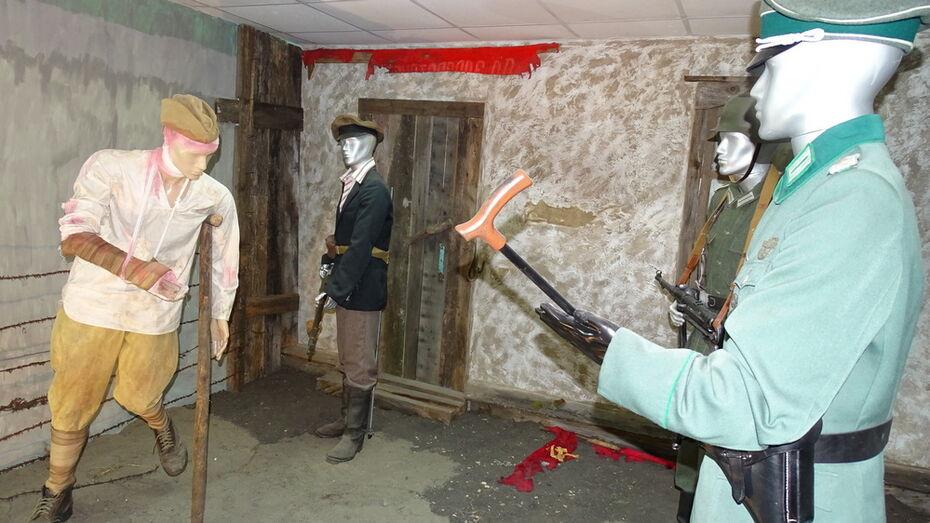 В хохольском военно-историческом музее открыли экспозицию «Допрос пленного красноармейца»