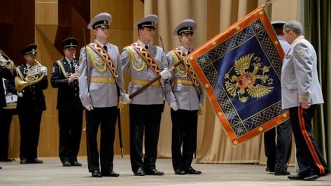 Воронежские полицейские получили новое знамя МВД