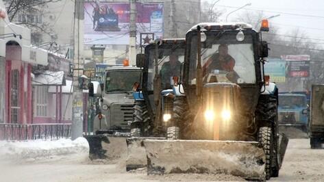 Власти Воронежа пустили на уборку снега 129 единиц техники