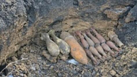 Под Павловском воронежские спасатели разминировали крупный склад боеприпасов