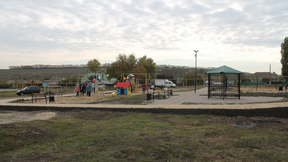 Детскую площадку за 2 млн рублей обустроили в хохольском селе Староникольское