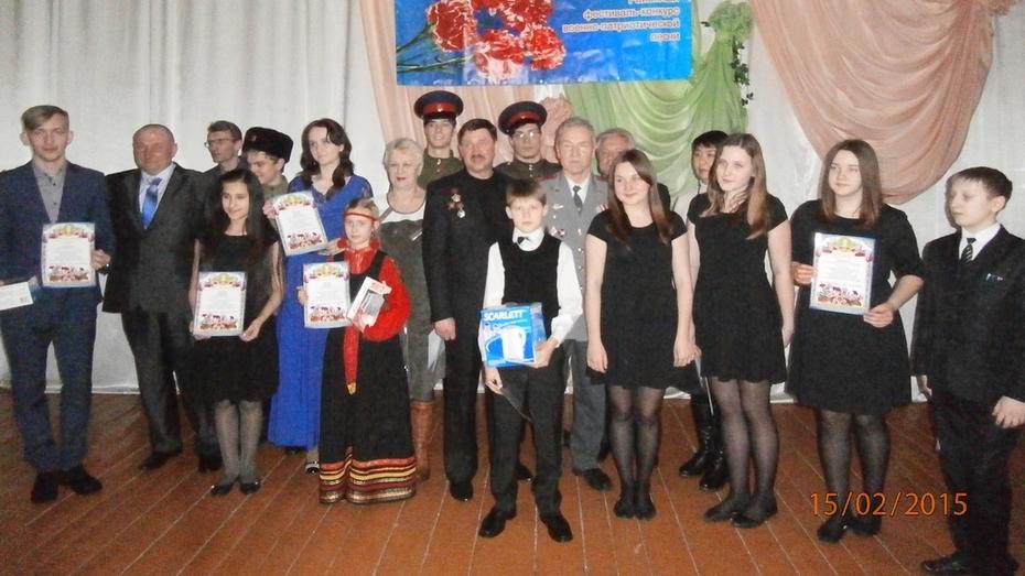 В семилукском селе прошел районный фестиваль патриотической песни  «Красная гвоздика»