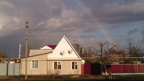 Россошанцы удивились радуге в декабре