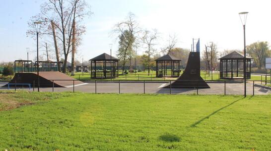 В Ольховатке в центральном парке появилась скейтзона с горками и велодорожка
