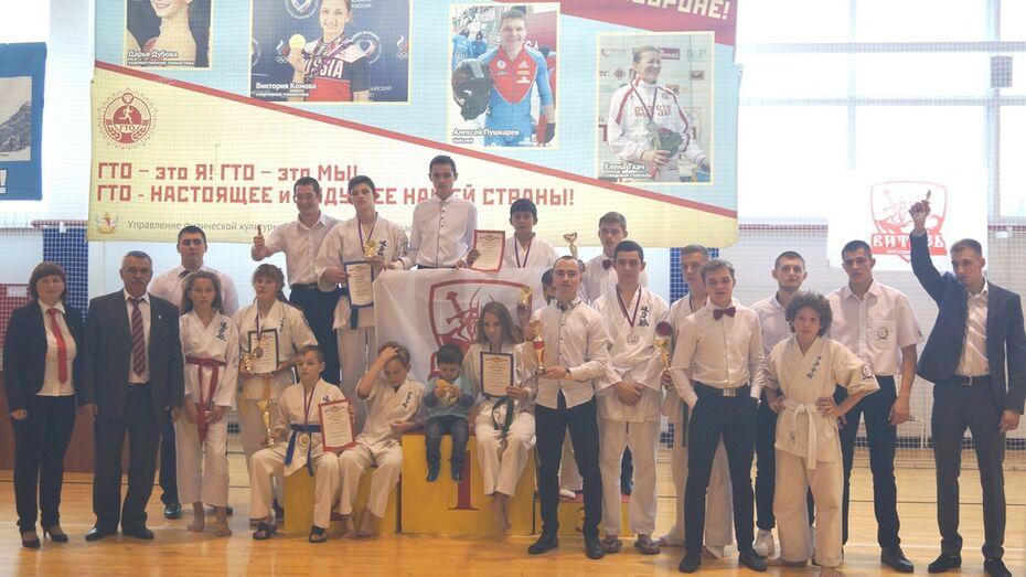 Верхнехавские каратисты завоевали 4 «золота» на открытых областных соревнованиях