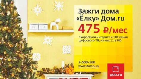 «Дом.ru» предложил воронежцам новогодние скидки на интернет и ТВ