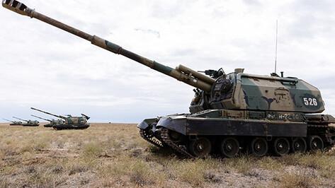В Воронежской области прошли тактические учения с боевой стрельбой
