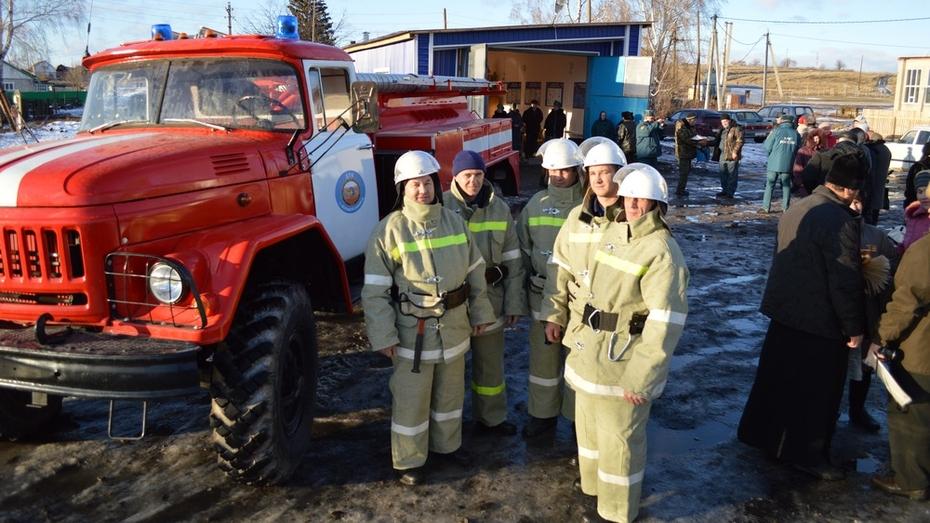 В Эртильском районе открылось новое пожарное депо