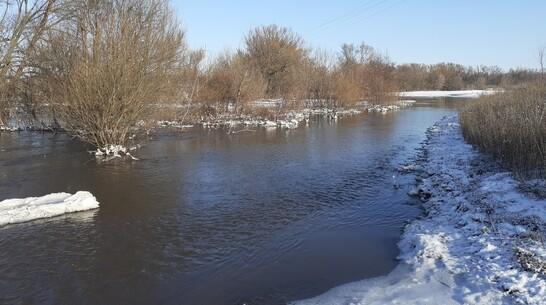 В семилукском селе Латное затопило один из мостов