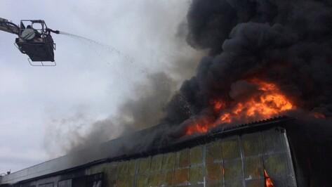 В Воронеже пожар на складе с шинами распространился на 1000 квадратных метров