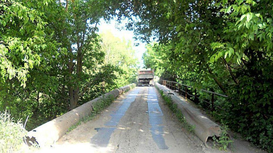 В Семилукском районе через реку Гнилушу построят новый мост