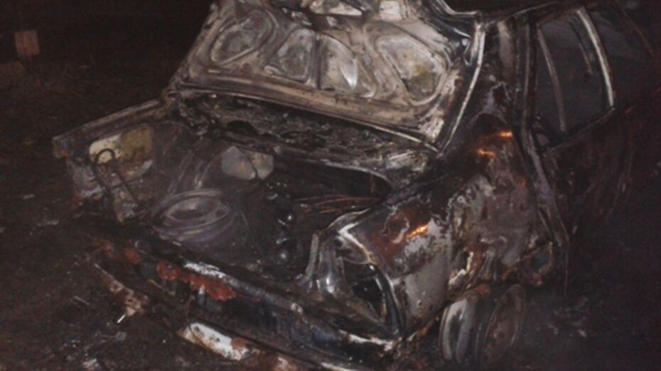 В Северном микрорайоне Воронежа сожгли «Рено»
