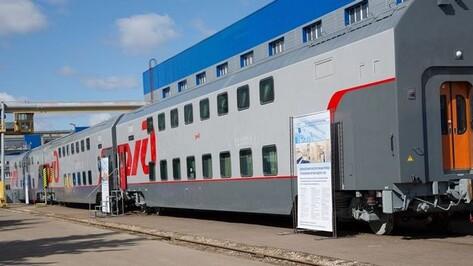 Из Воронежа будут ходить поезда с двухэтажными вагонами