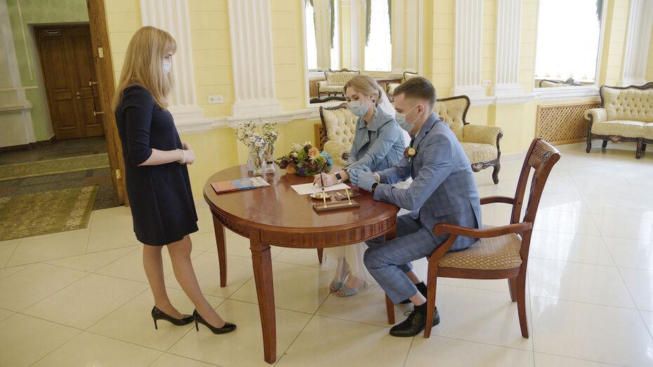 Из-за пандемии сезон свадеб в Воронежской области прошел с меньшим размахом