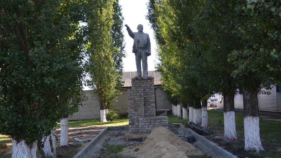 В Воронежской области памятник Ленину убрали с центральной площади города
