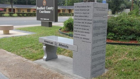 В США появился первый памятник атеизму