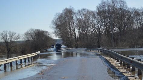 Под Воронежем частично затопило мост на автодороге Рамонь – Ступино