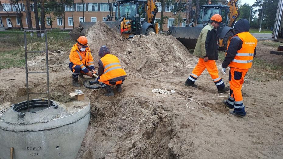 Воронежский водоканал обеспечил водоснабжение строящегося инфекционного центра
