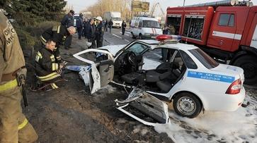 Фото РИА «Воронеж». Как сработали оперативные службы на месте ДТП с машиной ГИБДД