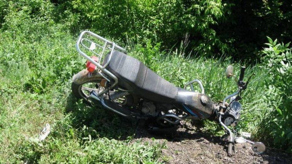 В лискинском селе 2 подростка получили травмы при столкновении скутера и «ВАЗа»