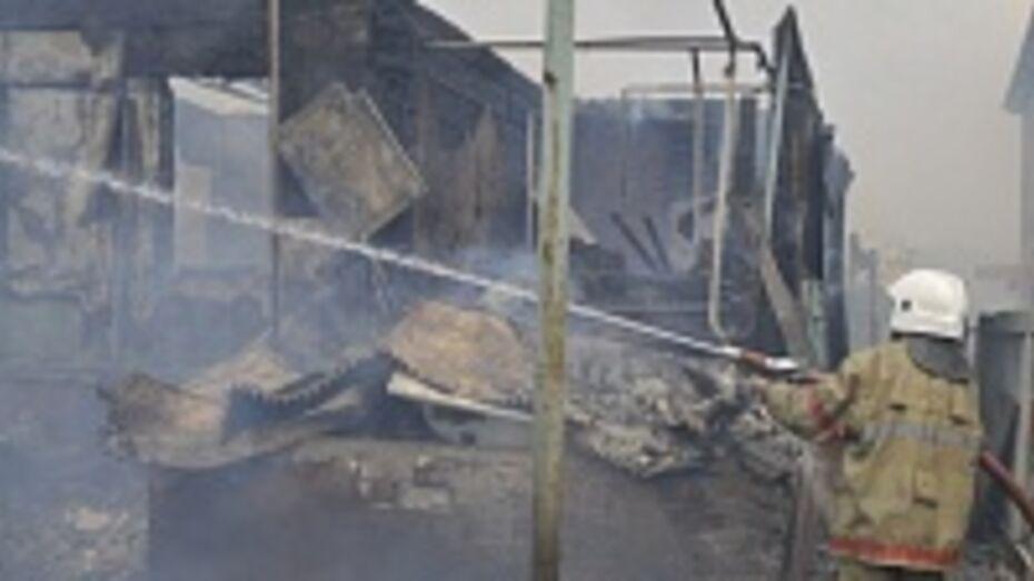 В Воронеже в Масловке при пожаре пострадали люди