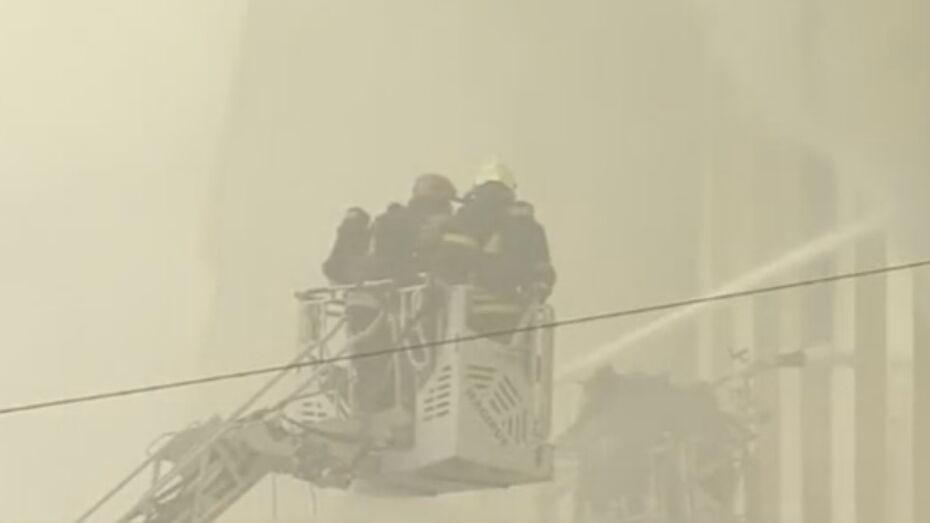 В Москве загорелось здание Минобороны РФ